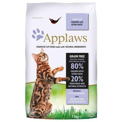 Applaws CAT hrana uscata cu pui și extra rață  7,5 kg