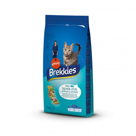 Brekkies Cat somon, ton, legume și cereale