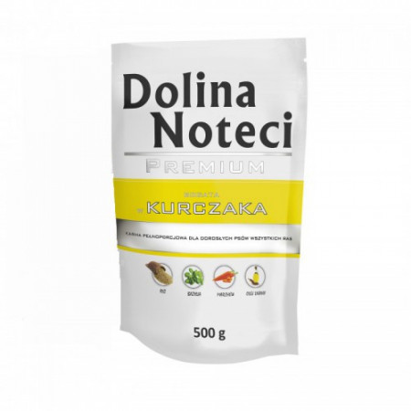 Hrana umeda pentru caini Dolina Noteci Premium cu pui 500 g