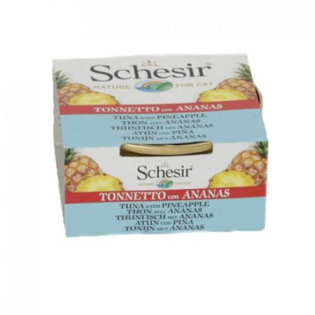 Hrana umeda pisici Schesir Ton si ananas