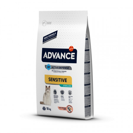Advance Cat Sterilized Sensitive cu somon 10 Kg