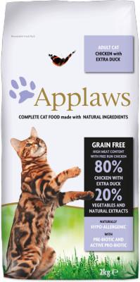 Applaws CAT hrana uscata cu pui și extra rață 2 kg