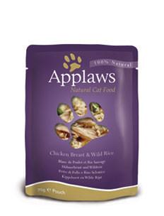 Applaws CAT hrană umedă cu piept de pui și orez sălbatic în sos