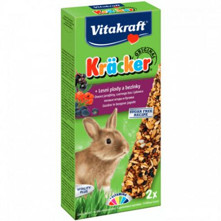 Batoane pentru iepuri Vitakraft cu fructe si soc 112 g