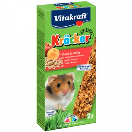 Baton pentru hamsteri Vitakraft Kracker cu fructe 112 gr