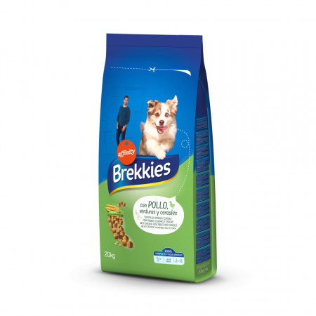 Brekkies Dog Complete cu pui, legume și cereale