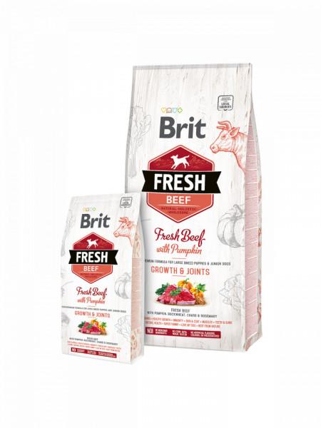 Brit Fresh Beef and Pumpkin Puppy Large Bones & Joints 2.5 kg