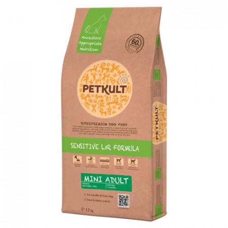 Hrana caini Petkult Sensitive Mini Adult miel si orez