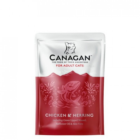 Hrana umeda pentru pisici Canagan Adult cu Pui & Hering 85 g