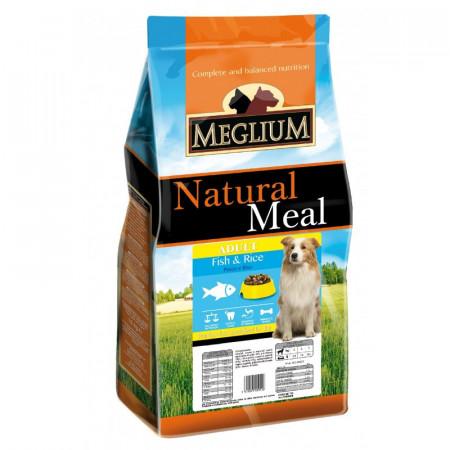 MEGLIUM Dog Sensible Peste&Orez  Hrană completă pentru câini adulți.