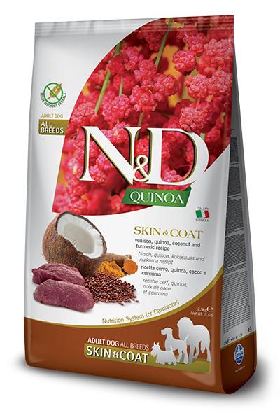 N&D Quinoa Dog Skin&Coat cu vânat