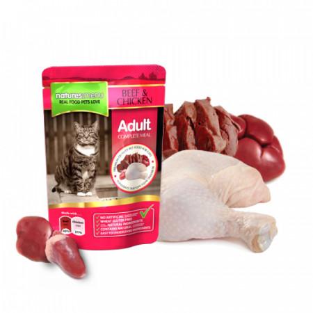 NATURES MENU CAT BEEF & CHICKEN (100 gr.)