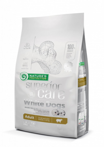 Natures Protection Superior Care White Dogs Adult Miel rase mici 1.5 Kg