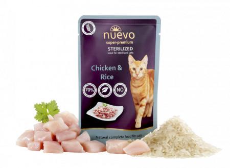 Nuevo Cat Sterilized cu pui și orez 85 gr