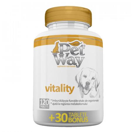 Petway Vitality Supliment nutritiv pentrucresterea imunitatii si vitalitatii cainilor