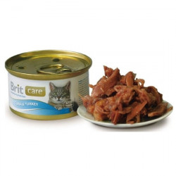 Brit Care Cat Tuna and Turkey 80 gr (conservă)