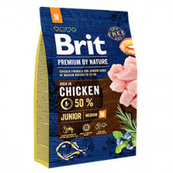 Brit Premium by Nature Junior M cu pui 3 Kg