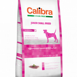 Calibra Dog Junior Small Breed cu rață
