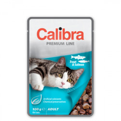 Calibra Premium Adult Cat Păstrăv si Somon 100 g