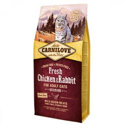 Carnilove Cat Fresh Pui și Iepure 6 kg