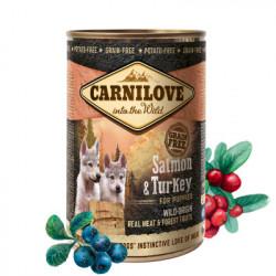 Carnilove Puppy Dog Pate Somon și Curcan 400 g
