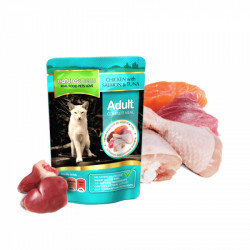 NATURES MENU CAT CHICKEN & SALMON & TUNA (100 gr.)