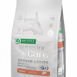 Natures Protection Superior Care White Dogs Fara Cereale Adult cu Somon rase mici 1.5 Kg