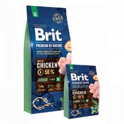 Pachet Brit Premium by Nature Junior XL cu pui 15 + 3 kg