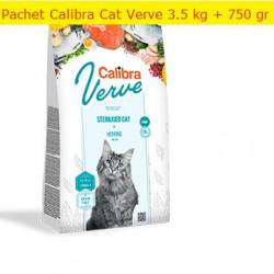Pachet Calibra Cat GF Verve Sterilised Hering 3.5 kg + 750 gr