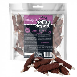 PET'S DESSERT LSL-03 CHEESE STICK & LAMB - PUNGA 500 Gr