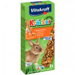 Baton pentru iepuri Vitakraft Kracker cu Miere si Grau Spelt 112 Gr