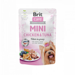 Brit Care Mini Dog Fileuri de Pui și Ton în Sos 85 gr