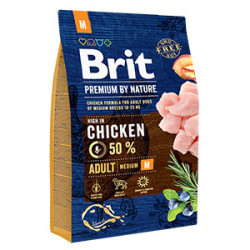 Brit Premium by Nature Adult M cu pui 3 Kg