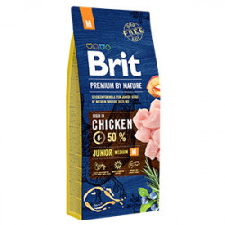 Brit Premium by Nature Junior M cu pui 15 Kg