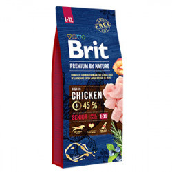 Brit Premium by Nature Senior L & XL cu pui 15 Kg