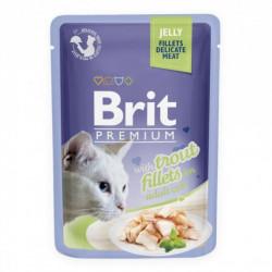 Brit Premium Cat Delicate Fileuri de Păstrăv în aspic 85g (pliculeț)