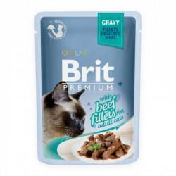 Brit Premium Cat Delicate Fileuri de Vită în Sos 85 gr (pliculeț)