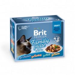 Brit Premium Cat Delicate Multipack Family Plate Fileuri în sos (pliculețe) 12x85 gr