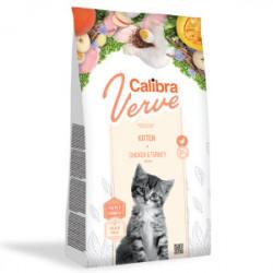 Calibra Cat GF Verve Kitten Pui si Curcan 750 gr