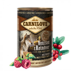 Carnilove Adult Dog Pate Vânat și Ren 400 g