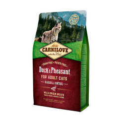 Carnilove Duck and Pheasant Cats Hairball Control 2 kg
