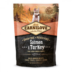 CARNILOVE Large Breed Puppy Somon si Curcan 1,5 kg