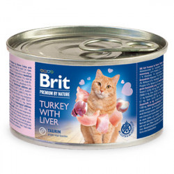 Conservă Brit Premium by Nature Cat Curcan și Ficat 200 gr