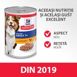 HILL'S SCIENCE PLAN MATURE ADULT hrană pentru câini cu pui 370 g (conservă)