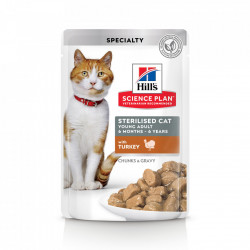 Hill's SP Feline Young Adult Sterilised Curcan 85 g (pliculeț)