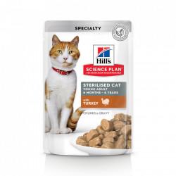 Hill's SP Young Adult Sterilised hrana pentru pisici cu curcan 85 g (pliculeț)