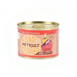 Hrana umeda pentru caini Petkult Mini Adult cu vita 185 g