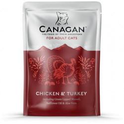 Hrana umeda pentru pisici Canagan Adult cu pui si curcan 85 g