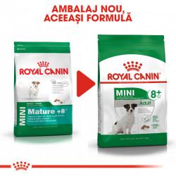 Hrana uscata caini ROYAL CANIN MINI ADULT 8+ ambalaj nou