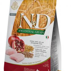 N&D Ancestral Grain Cat cu pui si rodie